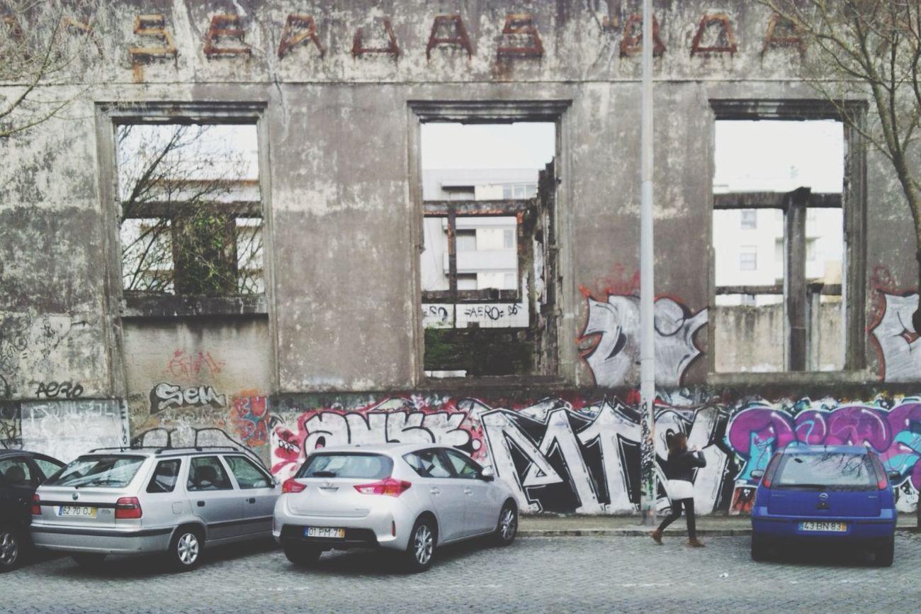 Explorando Matosinhos Captar Observar Oporto Grafitti Pasear Que Bonita Es Ruina Destrucción Abandono