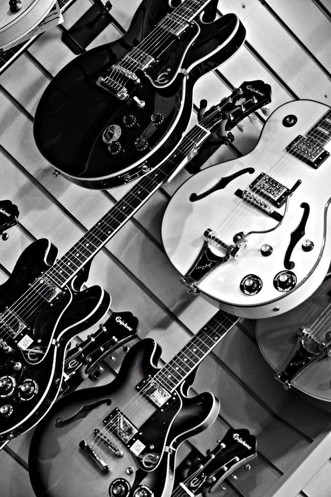 Guitar Blackandwhite Guitarguitar Retail Therapy