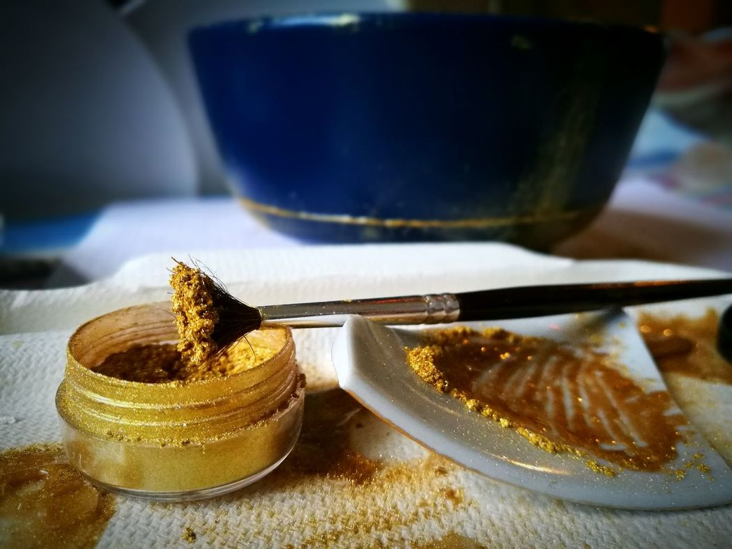 Ceramic Galaxy Backgrounds Japanese Culture Hope Kintsugi Textured  Gold Repair Reuse Recycle Maker Reuse Crafter Repair Work Repaired Is Beautiful Broken Is Beautiful Ceramic Art Indoors  Day No People Close-up Gold Dust Golden Blue And Gold Blue Nothingisordinary