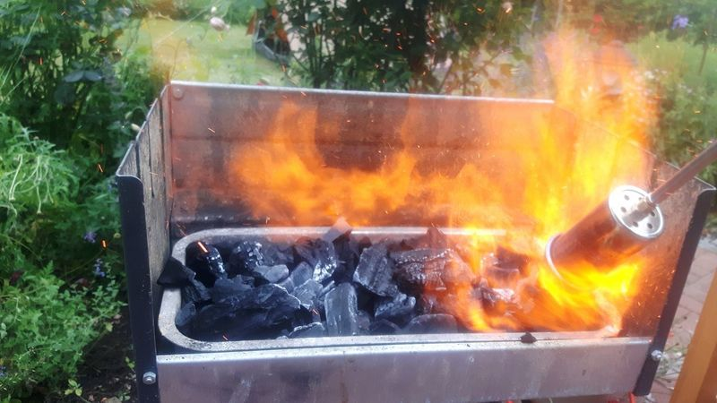 Fire - Natural Phenomenon Burning Flame Heat - Temperature Smoke - Physical Structure Glowing Danger Barbecue Grill Inferno No People Close-up Fireball Outdoors Day Fire Pit Freshness