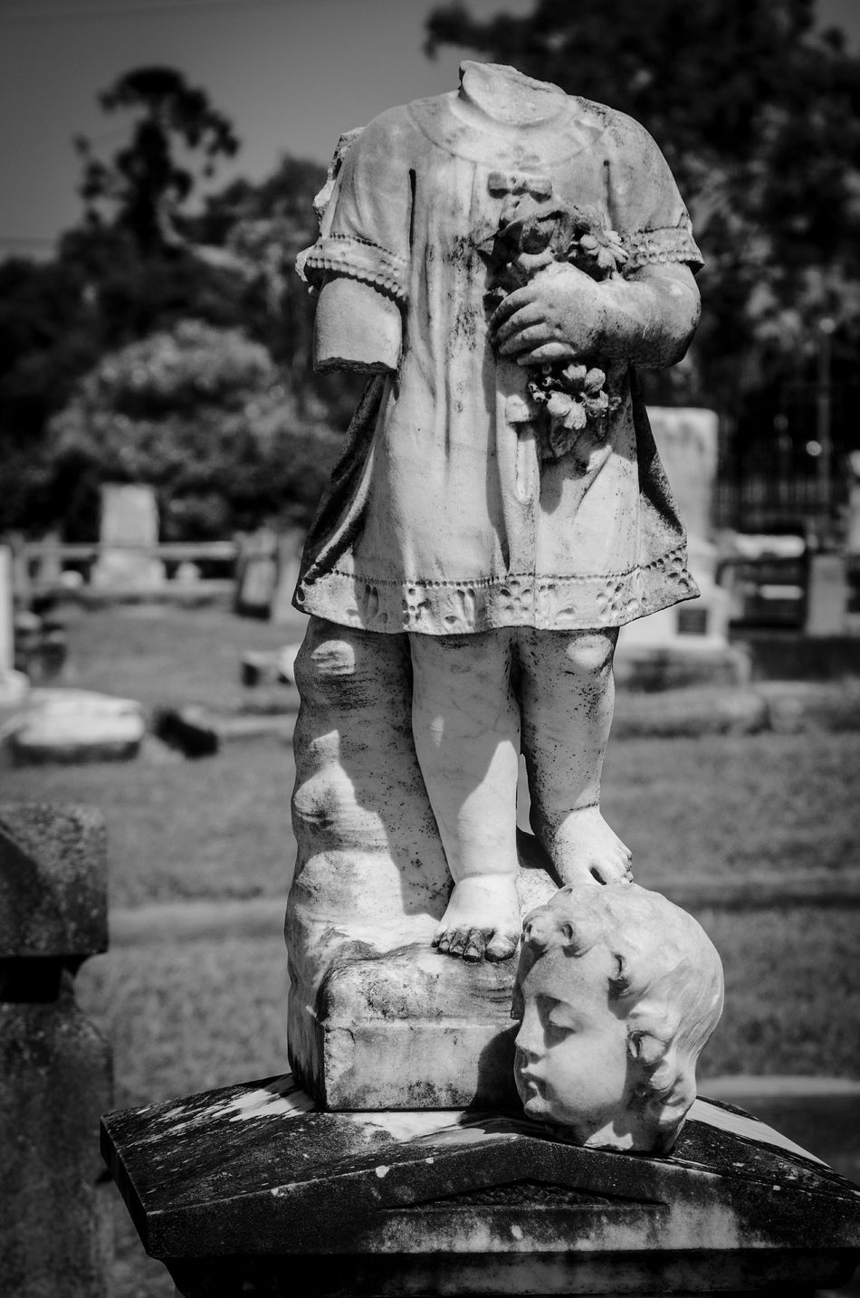 Statue Sculpture Nikon D5100  Cemetery Photography Graveyard Beauty Tombstone Peaceful Black & White Cherub Statue Sadness