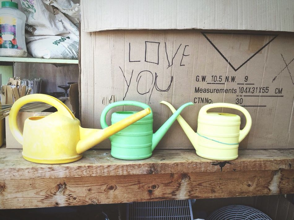 Gardening Gardening Tools Watering Can Cardboard Box Love I Love You Messages Love Notes Writing