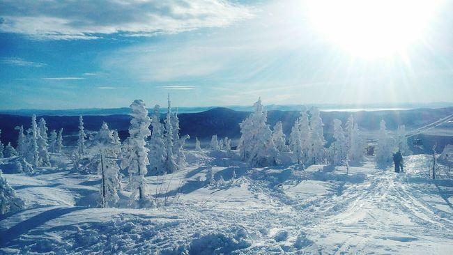 сноуборд Mountains горы Шерегеш Sheregesh красота небо Snowboarding
