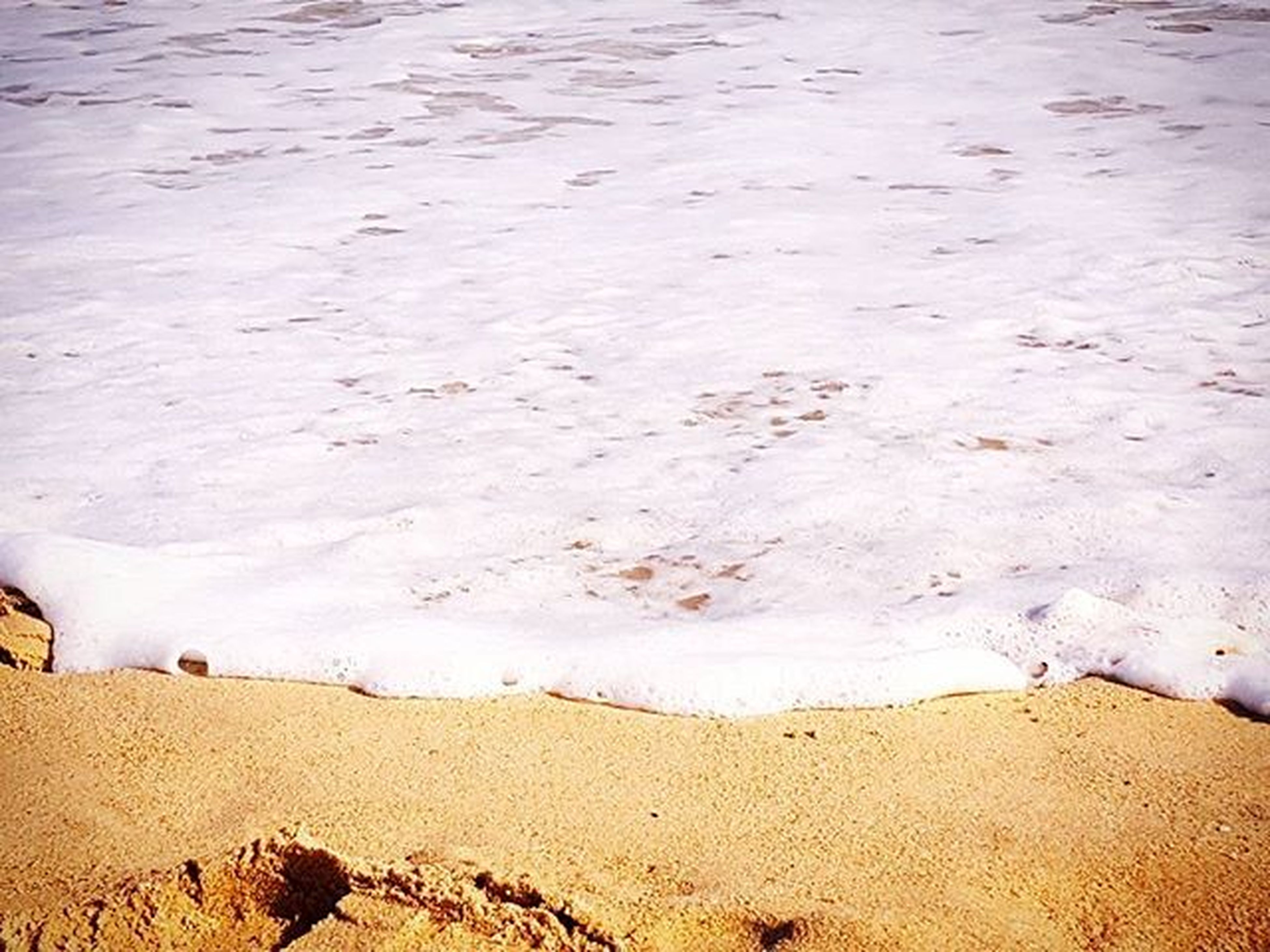 sand, beach, shore, footprint, tranquility, tranquil scene, sea, nature, desert, high angle view, sand dune, sunlight, sandy, beauty in nature, scenics, day, outdoors, vacations, coastline, water
