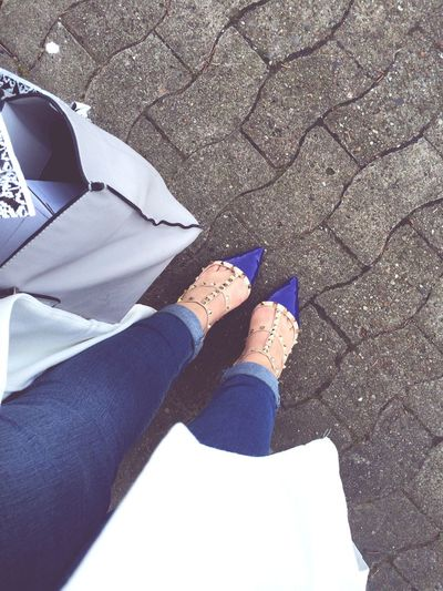 Ootd Today's Hot Look Valentino Rockstud Ripped Jeans ASOS Maxicoat