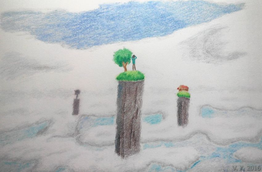 Distances - my new drawing. ilI use the coloursoft pencils from Derwent. Now Online Check This Out ArtWork MYArtwork❤ Art Drawing Traditional Art Surreal Surrealism Surrealist Art