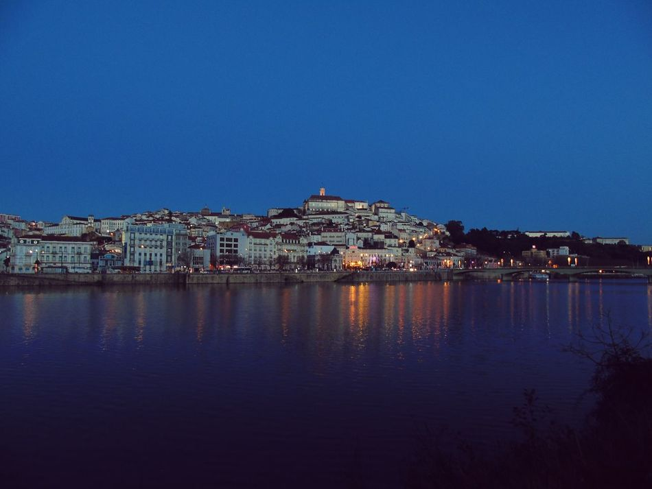 Coimbra Coimbra University Coimbralovers Coimbracity Coimbra, Portugal Coimbraimagens Coimbra Riomondego Mondego City Water Reflection Sea Sky Architecture Building Exterior Beach Outdoors No People Cityscape Harbor Night