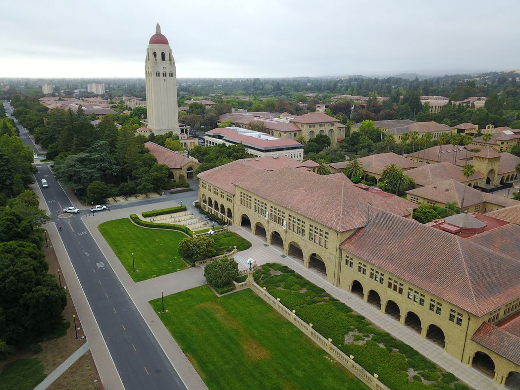 Mad with my DJI Mavic drone at Stanford, showing Hoover Tower. High Angle View Architecture History Built Structure Building Exterior Day No People Sky Tree Outdoors