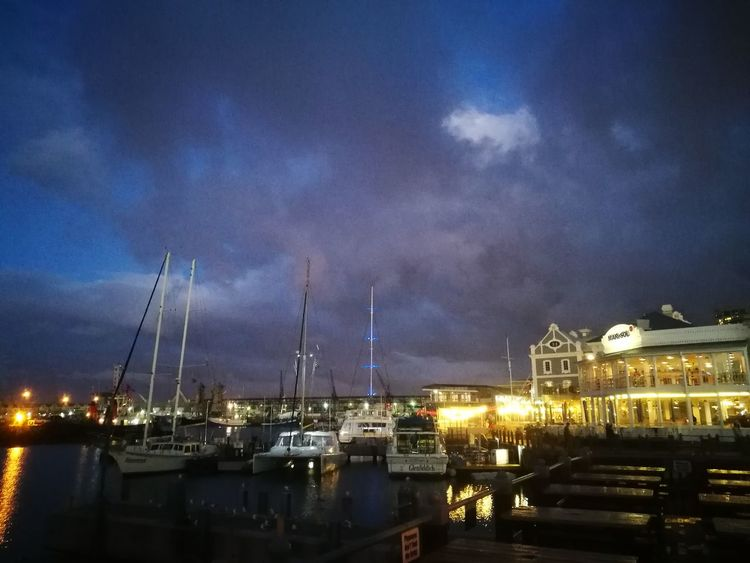 Night Nautical Vessel Harbor Sky Cloud - Sky No People Outdoors Commercial Dock Reflection Water Illuminated Building Exterior Ship Moored Architecture Cityscape City Shipyard Nature Sailing Ship