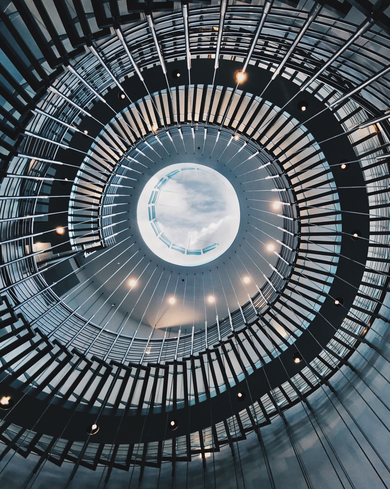 Architecture Steps And Staircases Built Structure Indoors  Spiral Spiral Staircase No People Illuminated Low Angle View Concentric Day EyeEm Selects Shotoniphone7plus The Week On EyeEm