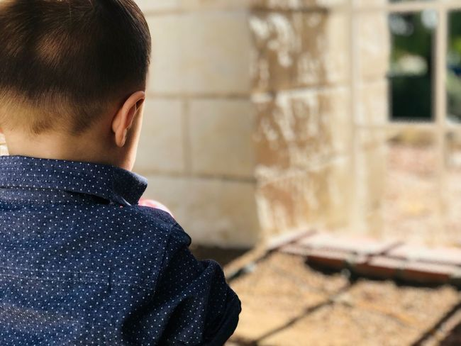 EyeEm Selects One Person Boys Real People Rear View Childhood Focus On Foreground Indoors  One Boy Only Day Close-up People Nofilter Cute