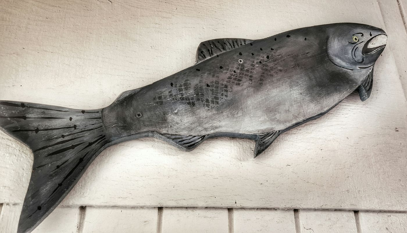 Fish on a Wall. Smartphonephotography Snapseed Editing  Fish Wooden Creature Wooden Carving Taking Photos Check This Out Getting Creative Walking Around Decoration