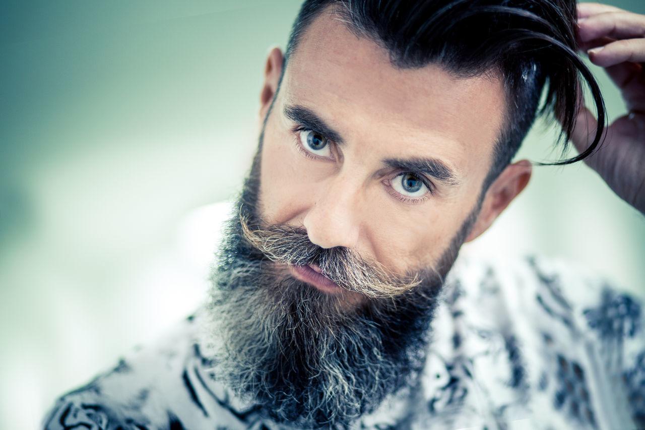 Beautiful stock photos of mustache, 45-49 Years, Beard, Casual Clothing, Caucasian Ethnicity