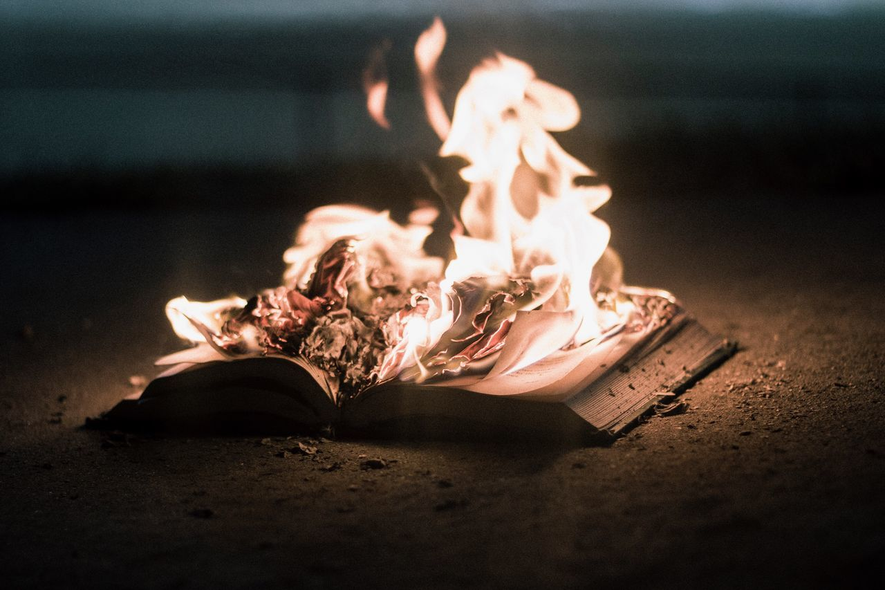 ♡ book no people close-up indoors night fire Burning Burning Book