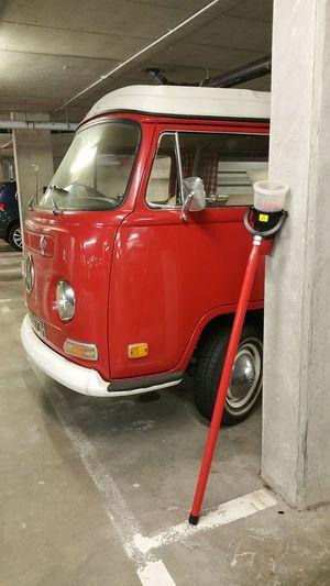 Red Classic Van Volkswagen Bright