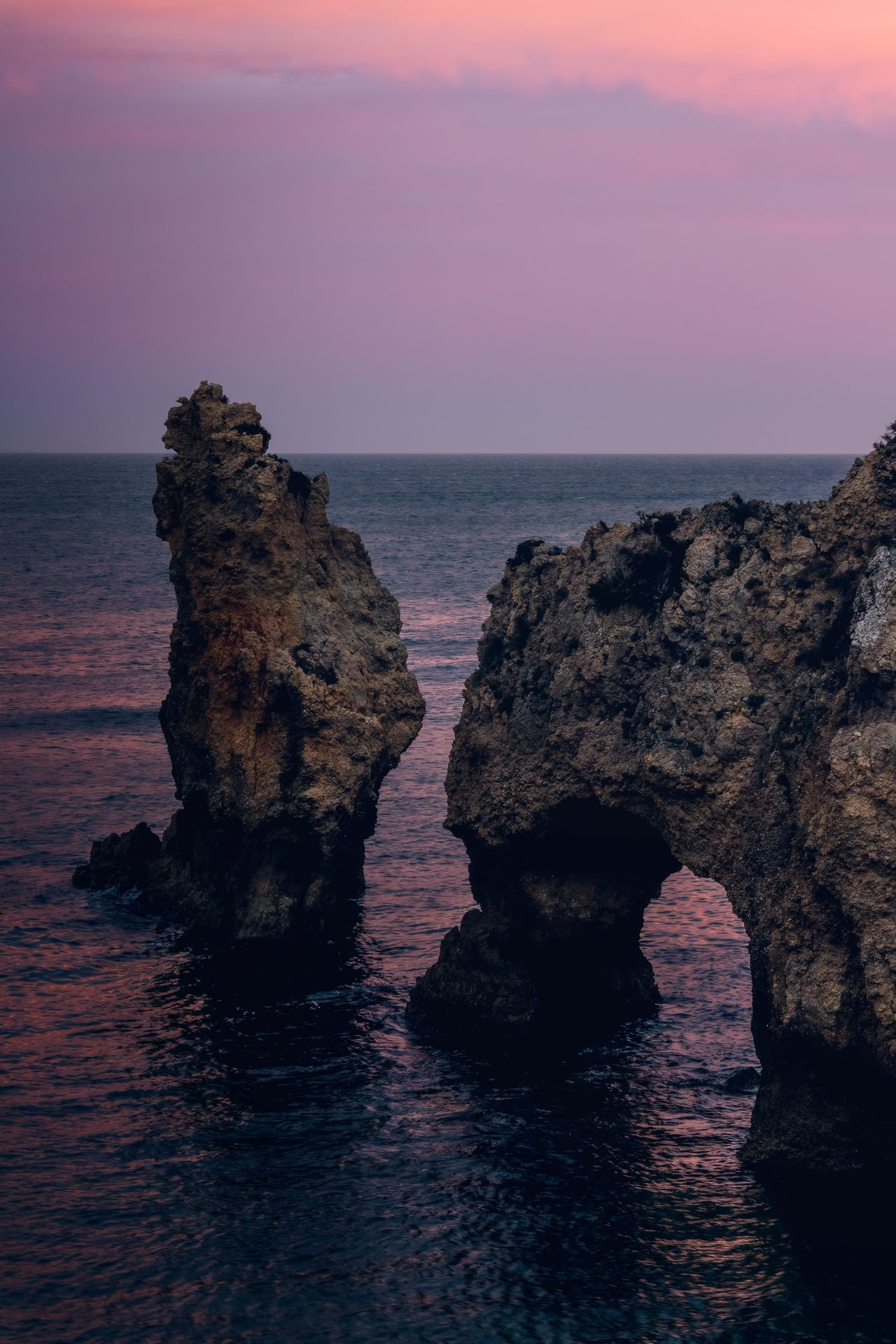 Ponta Da Piedade Portugal Algarve Lagos Sea Sunset Nature The Great Outdoors - 2017 EyeEm Awards Beauty In Nature Horizon Over Water Water Scenics Tranquility Sky No People Outdoors Landscape Tranquil Scene Wave Spring Summer Day Cliff Beach Rock - Object