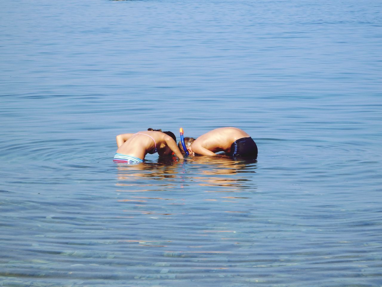 What happen under the water? Kids Kidsphotography Underwater Snorkeling EyeEm Kids Gyerekek Croatia Zadar Diklo Blue Wave