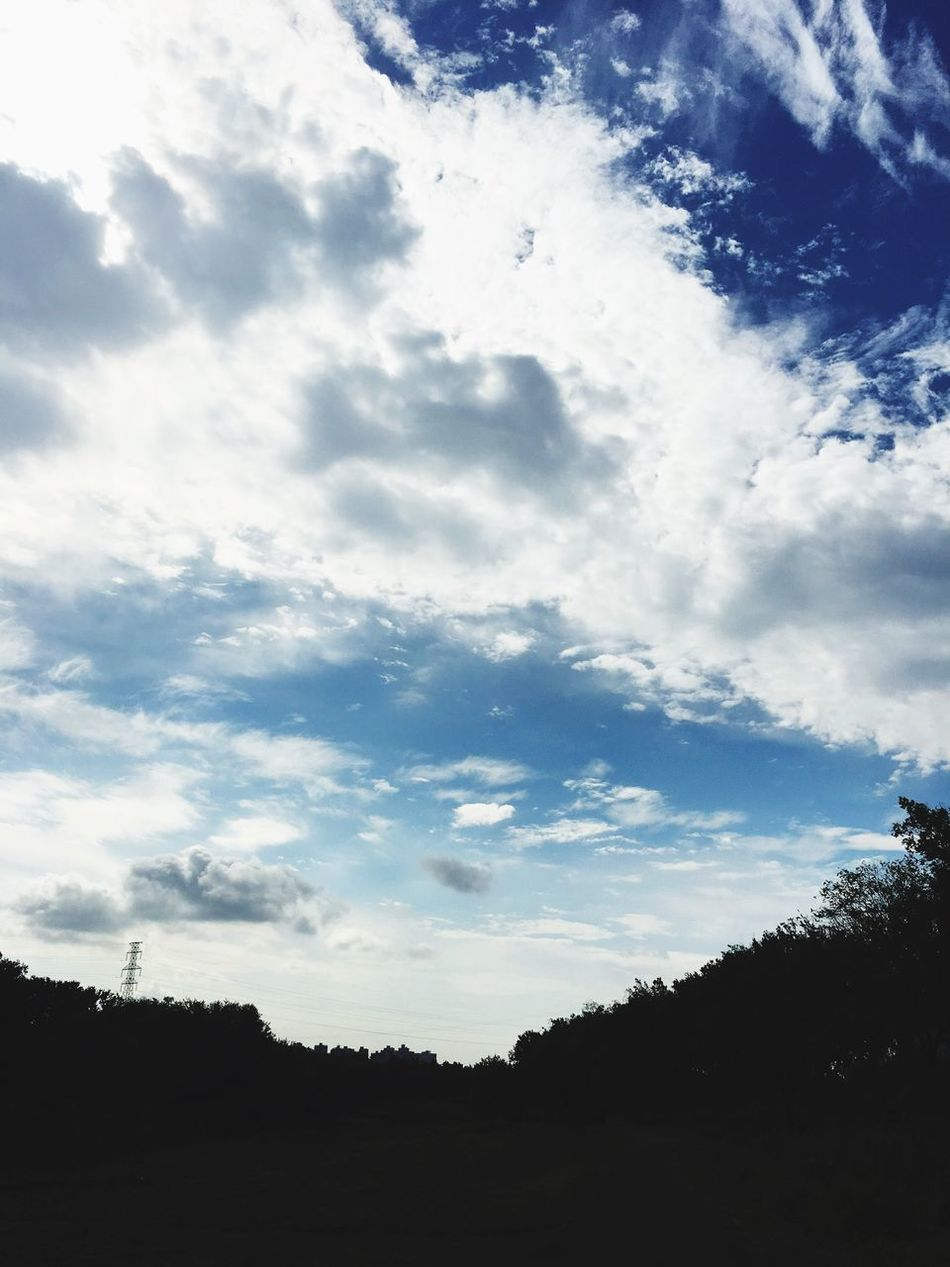 Cloud Sky Clouds And Sky Forestwalk Pathway Big Clouds Deep Blue Sky
