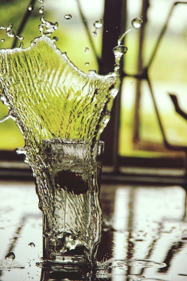 Splashing Highshutterspeed Water Glassofwater