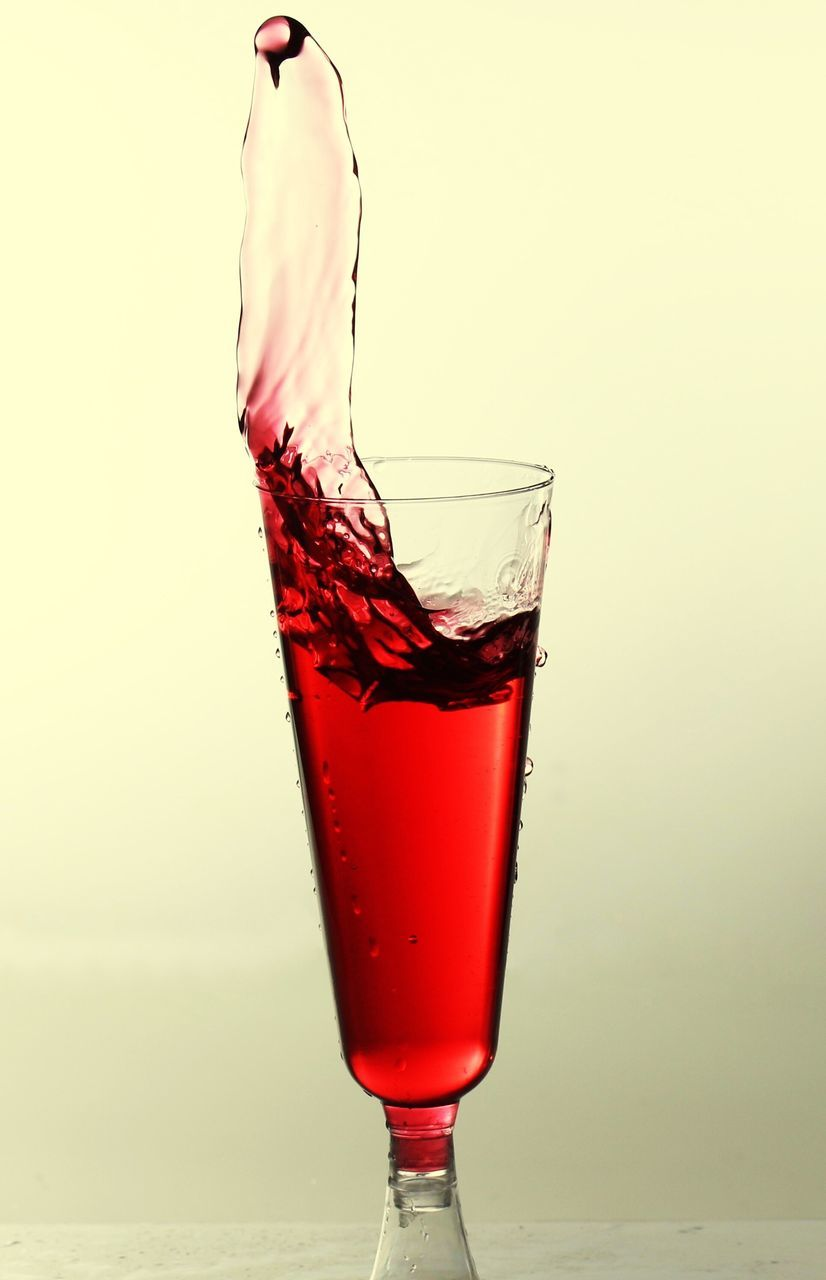 drink, refreshment, studio shot, no people, white background, cocktail, drinking glass, food and drink, freshness, close-up, red, alcohol, day