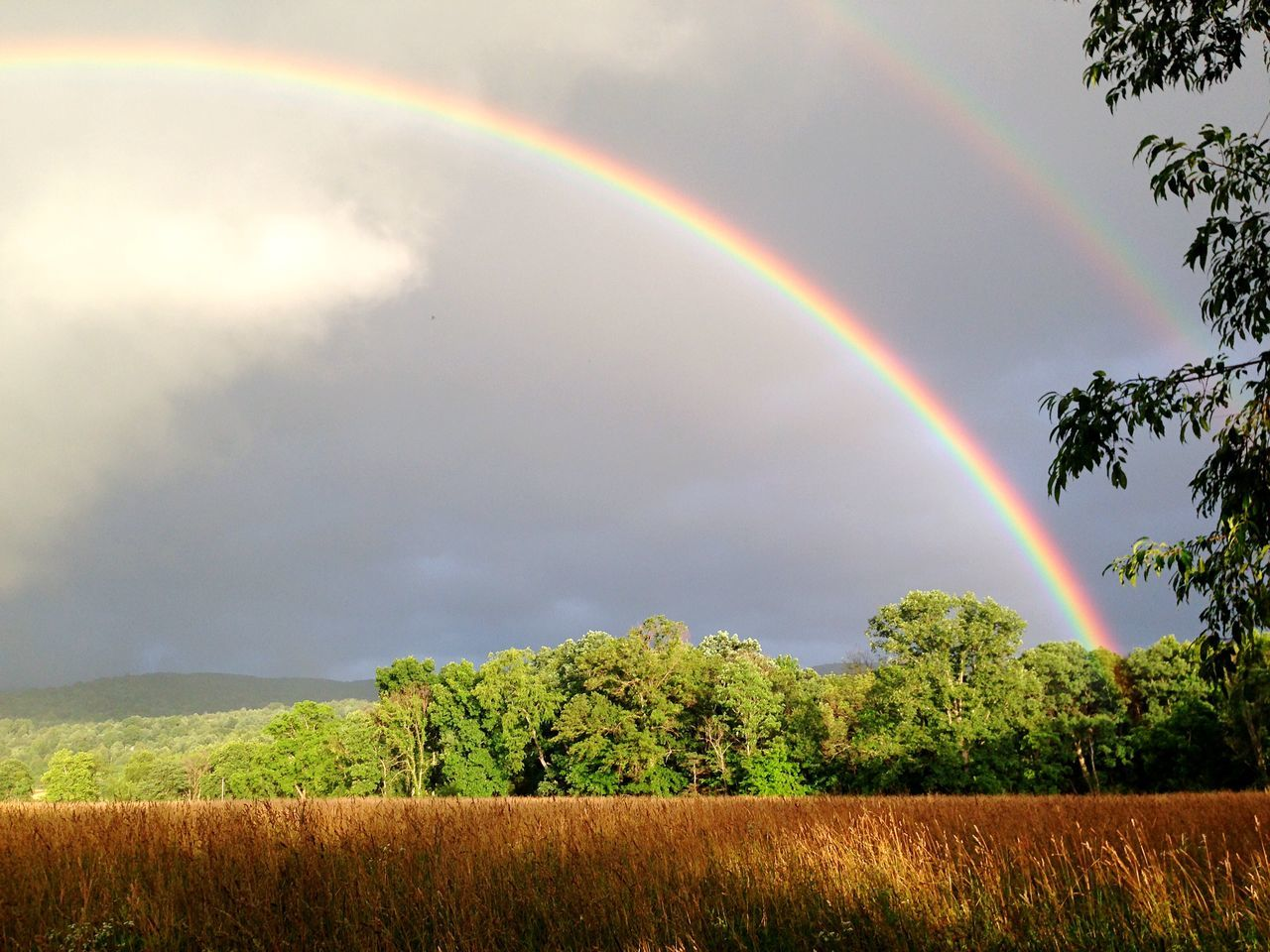 Double rainbow. The Great Outdoors - 2015 EyeEm Awards Rainbow Pennsylvania Taking Photos Clouds Nature Phoneography EyeEm Nature Lover Countryside