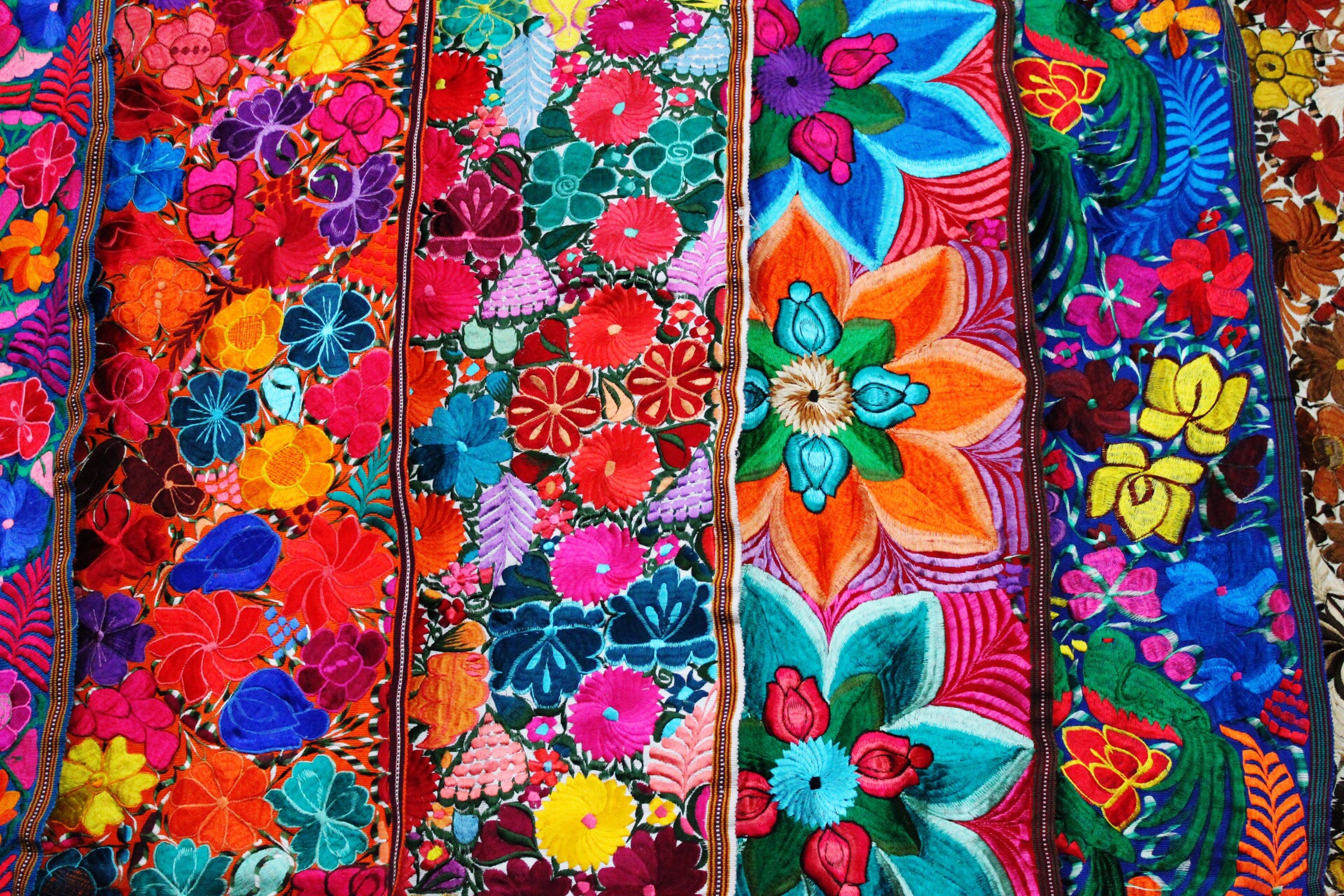 multi colored, backgrounds, full frame, textile, close-up, no people, day, outdoors