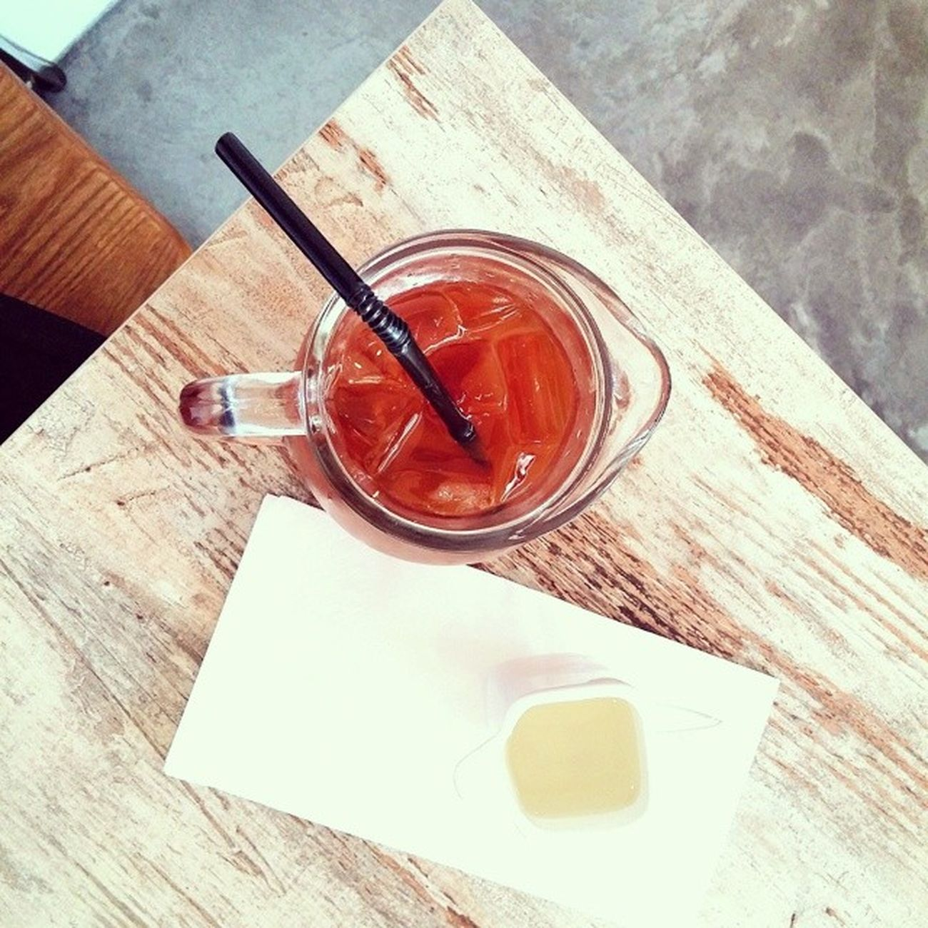 Simple, delightful ice tea. Burpple Pandelightsbistro Bukitmerahcentral Hdbcafe cafesg