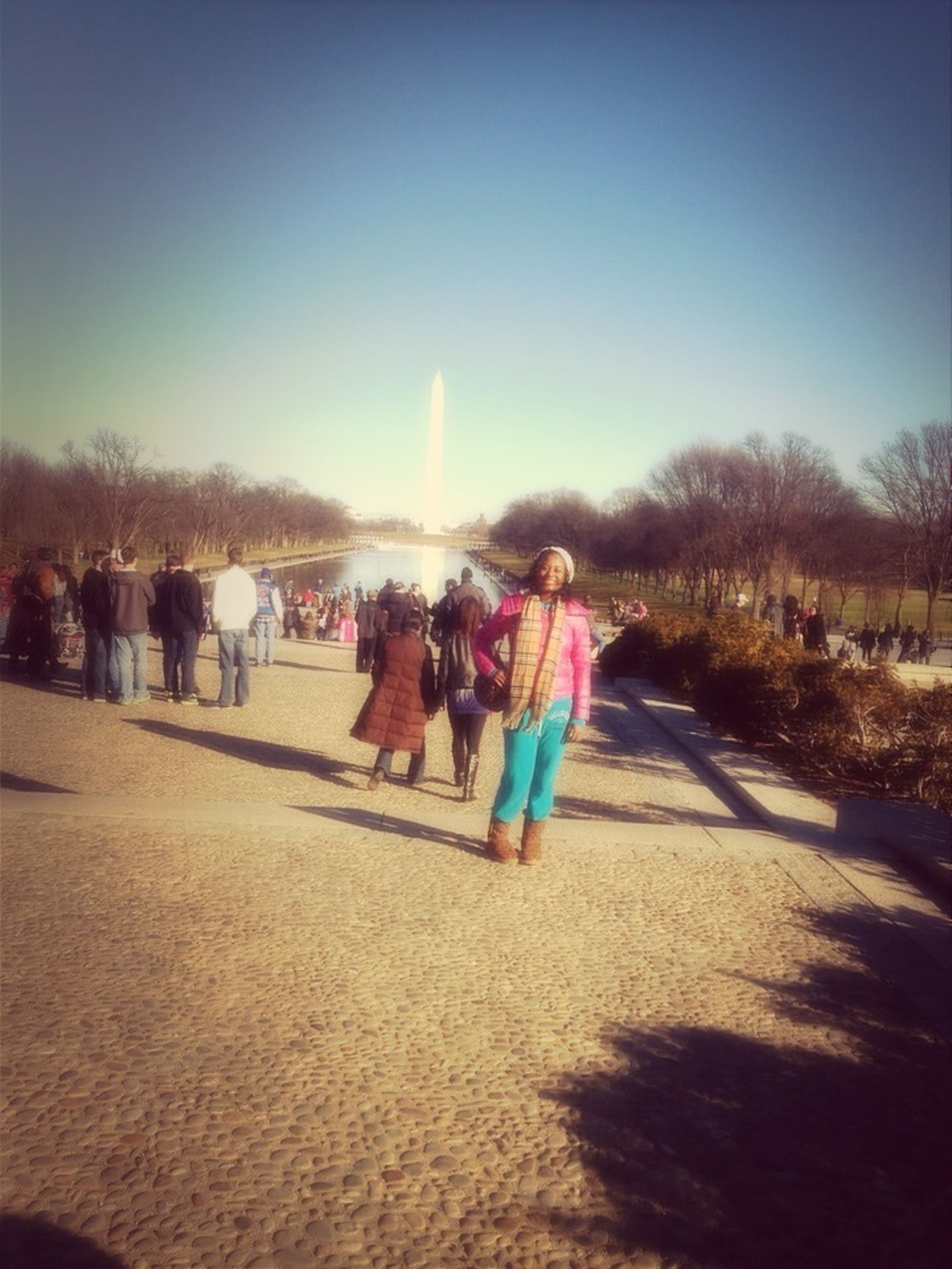 In Front Of The Reflection Pool & National Mall