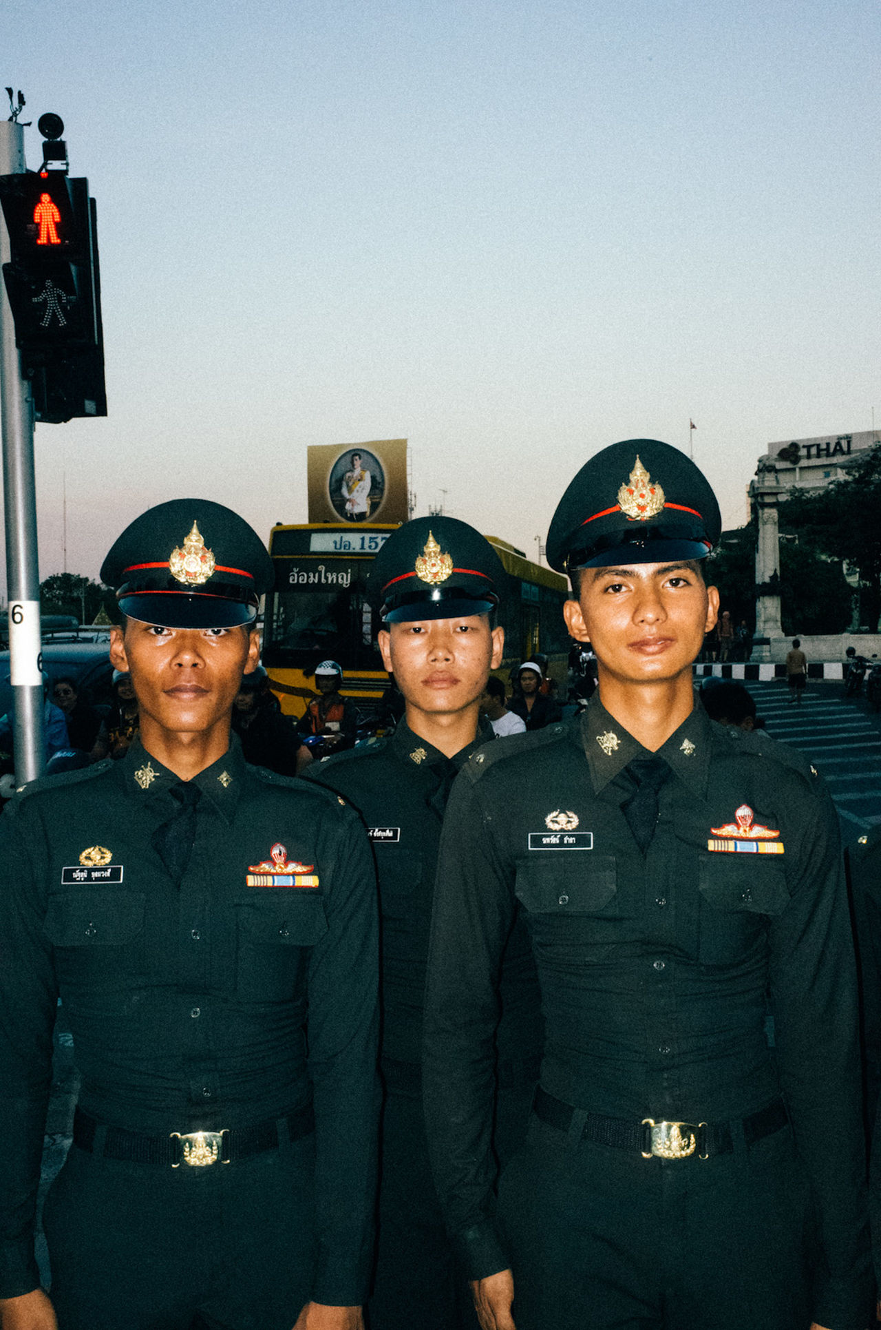 amazing Authority dapper group of people men military uniform only men police force portrait streetphotography streetportrait Thailand Uniform young adult