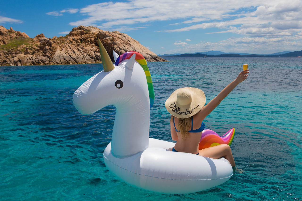 Beautiful stock photos of unicorn, Aegean Sea, Animal Representation, Beauty In Nature, Bikini
