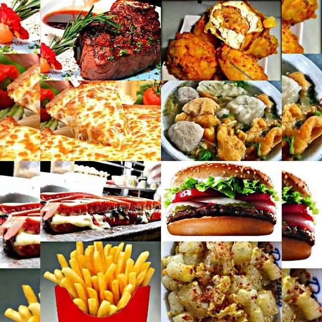 I wanna eat 'em all 😋😋😁 Cravings Pizza Burger Cilor Gehupedas Martabak Red Velvet