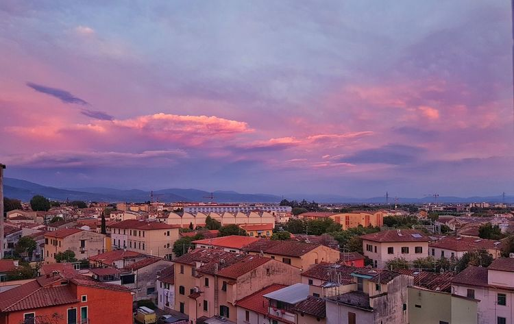 Residential Building Cityscape Old Town Sunset High Angle View Town City Night No People Outdoors Architecture Community Sky Pistoia Toscana
