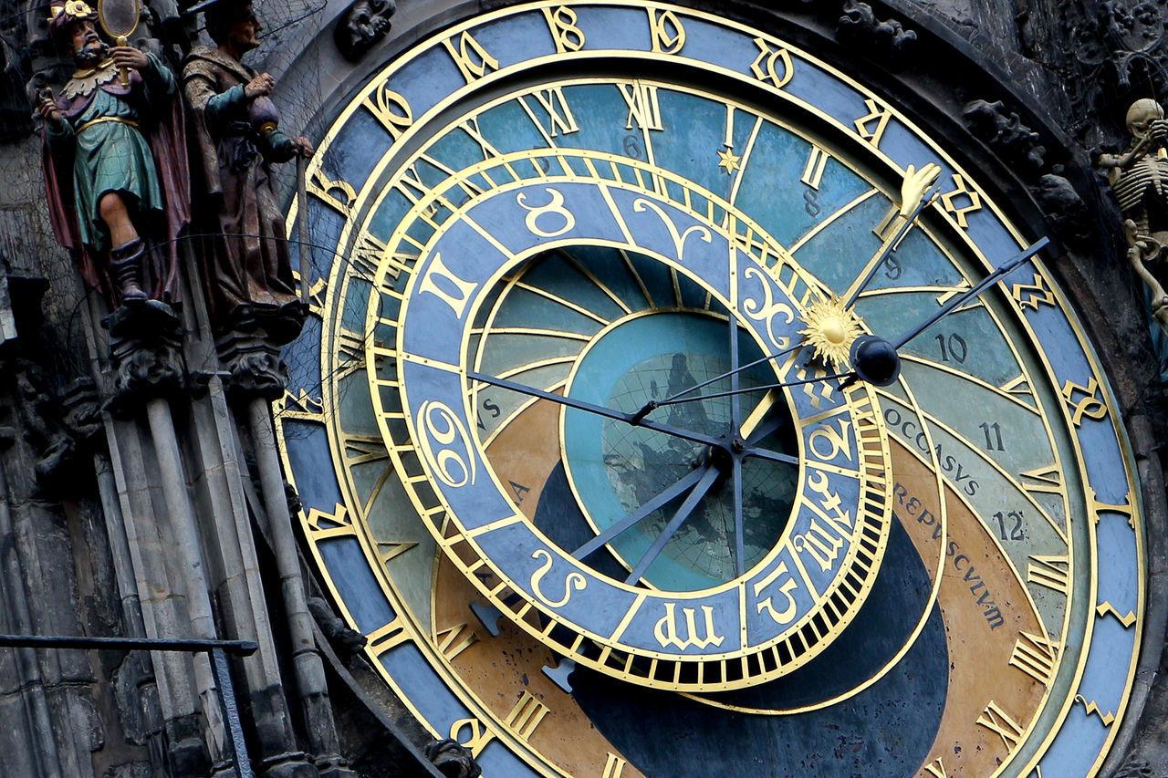 Beautiful stock photos of prague, Architecture, Astronomical Clock, Building Exterior, Clock