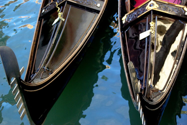 Boat Boats Canal Canals Canals And Waterways Canalstreet Cultures Gondola Gondola - Traditional Boat Gondola Ride Gondolas Mode Of Transport Moored Motion Water Nautical Vessel Outdoors Particular Traditional Boat Transportation Travel Destinations Venice Water Reflections
