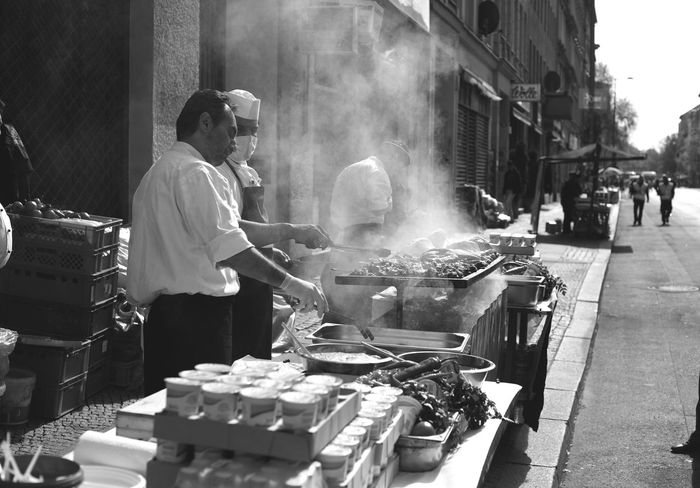 Berlin Cooking Food Food And Drink Germany Leisure Activity Lifestyles Monochrone Preparation  Smoke - Physical Structure Street Street Food Street Photography Streetphotography