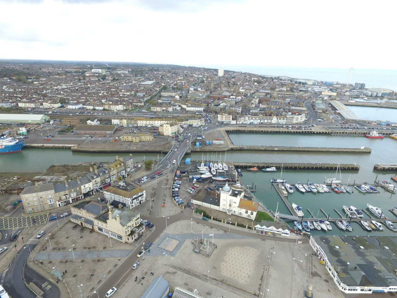 Aerial Photography Aerial Shot Aerial View Boats Bridge Drone  Harbour Lowestoft Uav