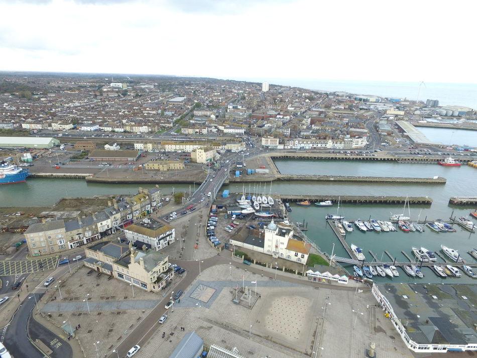 Aerial Photography Aerial Shot Aerial View Boats Bridge Drone  Harbour Lowestoft Uav