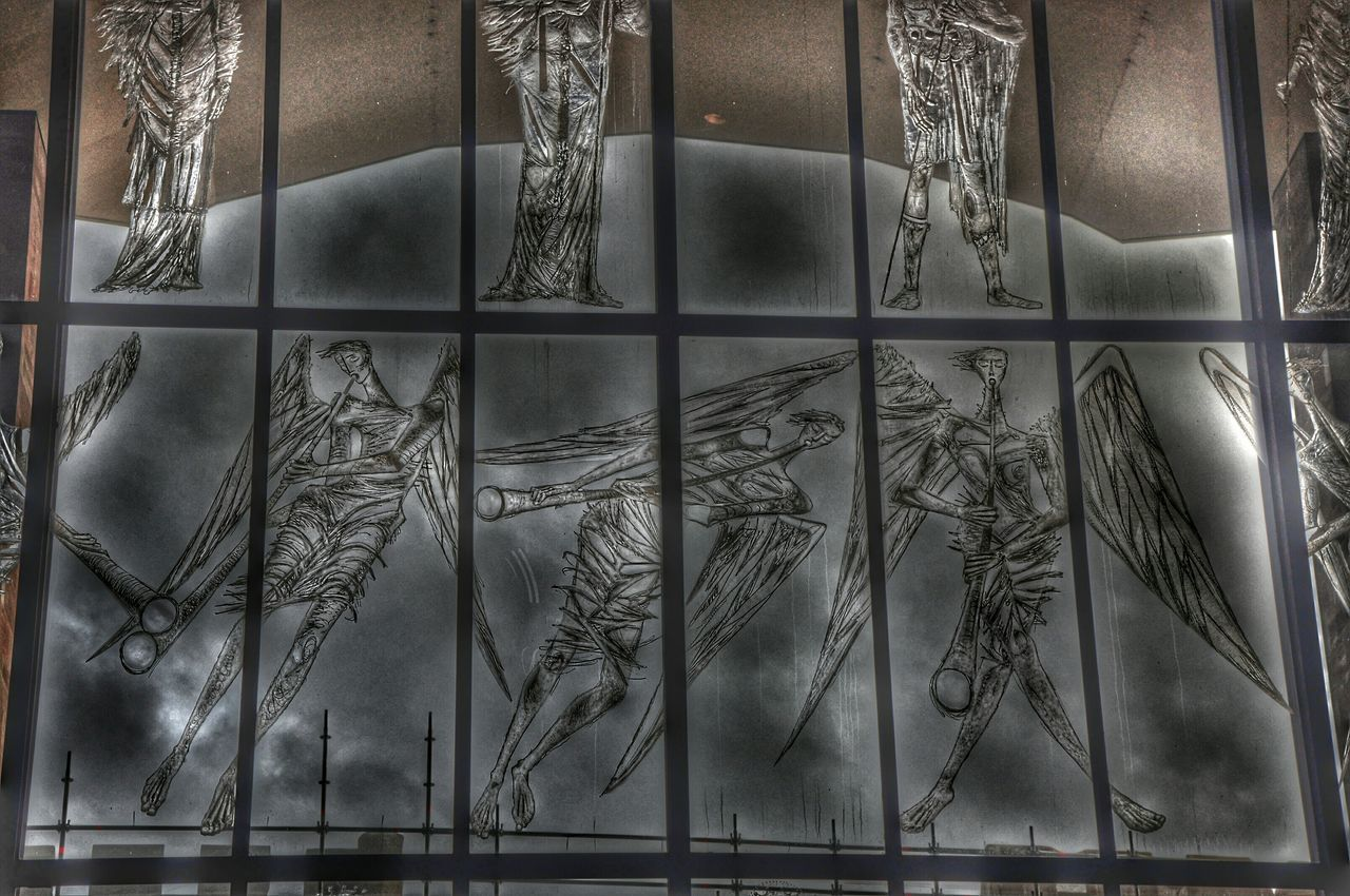 City Of Angels Angels Windowporn Etched Glass Christianity Praising The Lord HTC One Snapseed Editing  Dark Photography