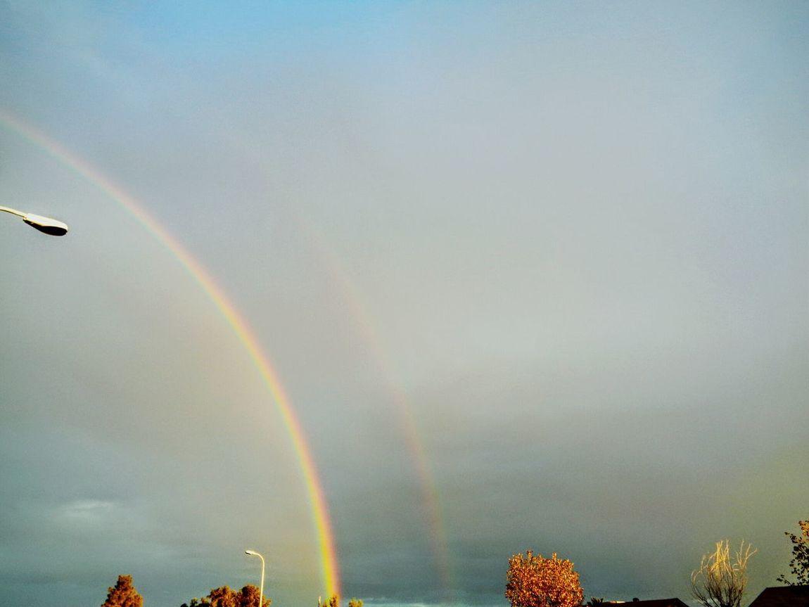 Beauty Times Two Double Rainbow Godsbeauty Tonights Sky Arizonasky Colorsplash Photography Eyeemarizona