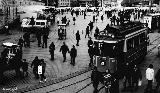Taksim Square Taksim Blackandwhite Istanbul Turkey