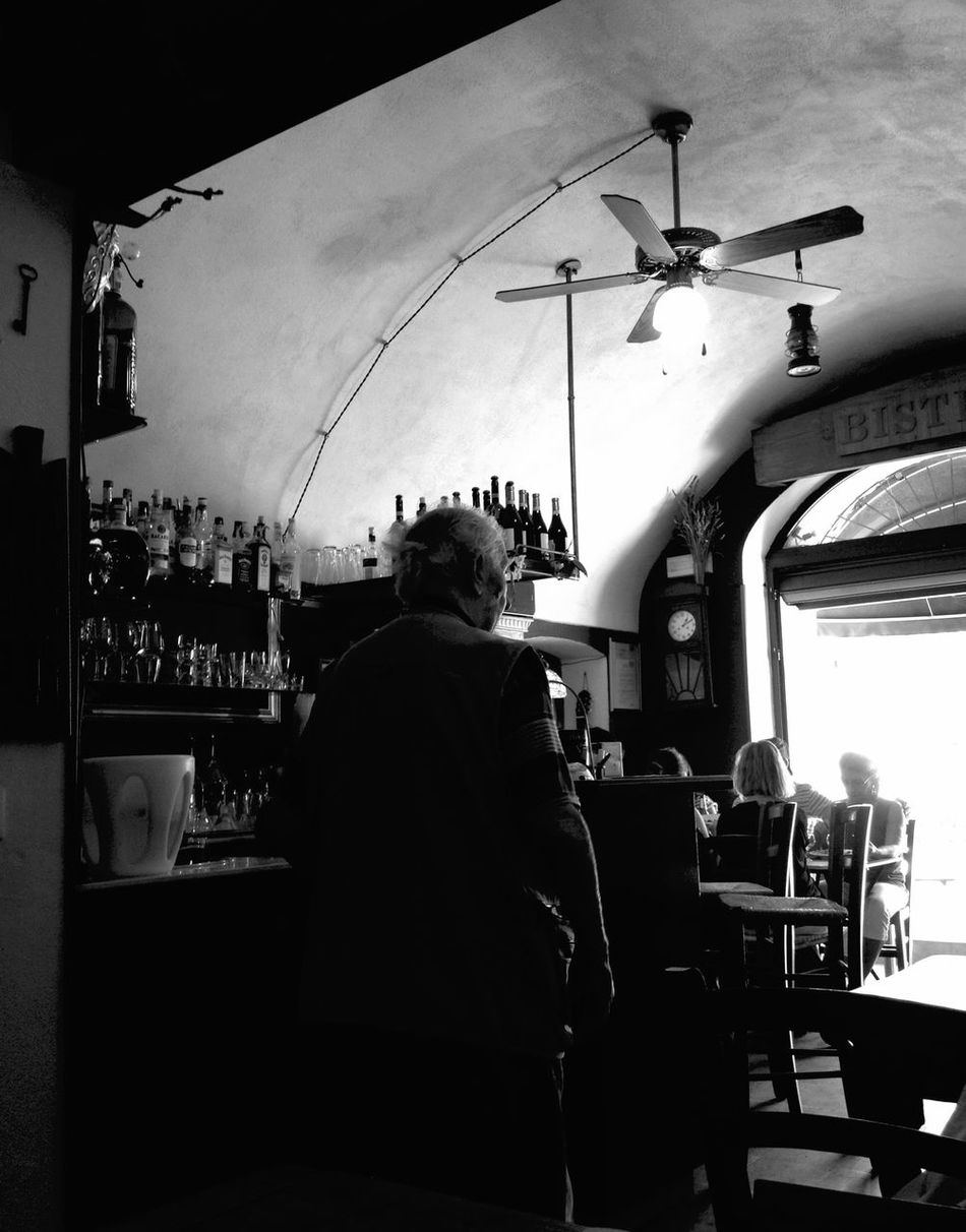 Go towards the light... Home Is Where The Art Is People Old Granfather Solitude Sad Sadness Intense Bar Whisky Tasting Alcohol Help Color Palette Blackandwhite Streetphotography Lifestyles People Watching Light Towards Bar Time  Homeless Restaurant Monochrome Photography