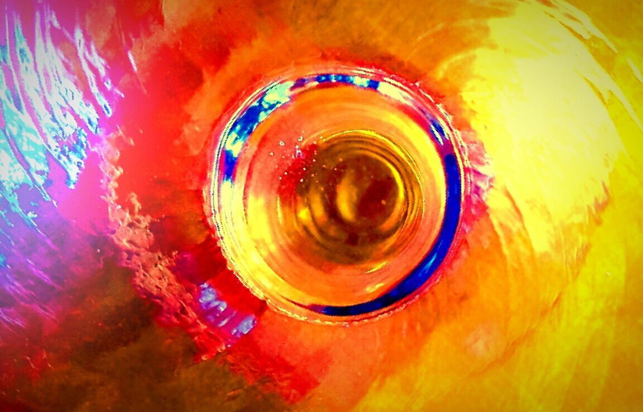 Bottom Of The Glass Abstract Colorsplash Darryn Doyle Suggestive Colorful Glass