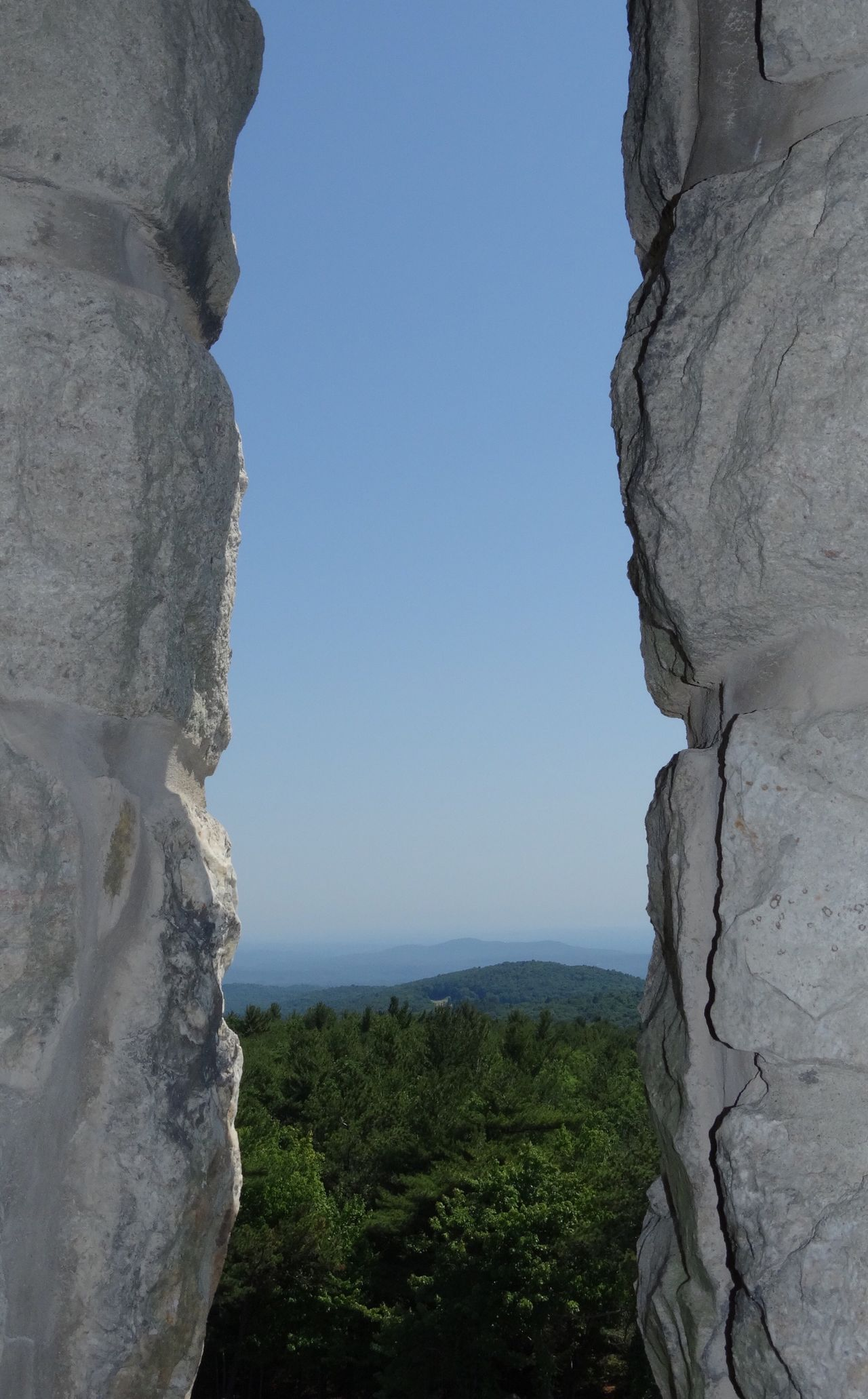 Look through the window and see. Nature Beauty In Nature Day Tranquil Scene Tranquility Geology Mountain Tree Rock - Object Outdoors Scenics No People Landscape Sky Mohonk Preserve