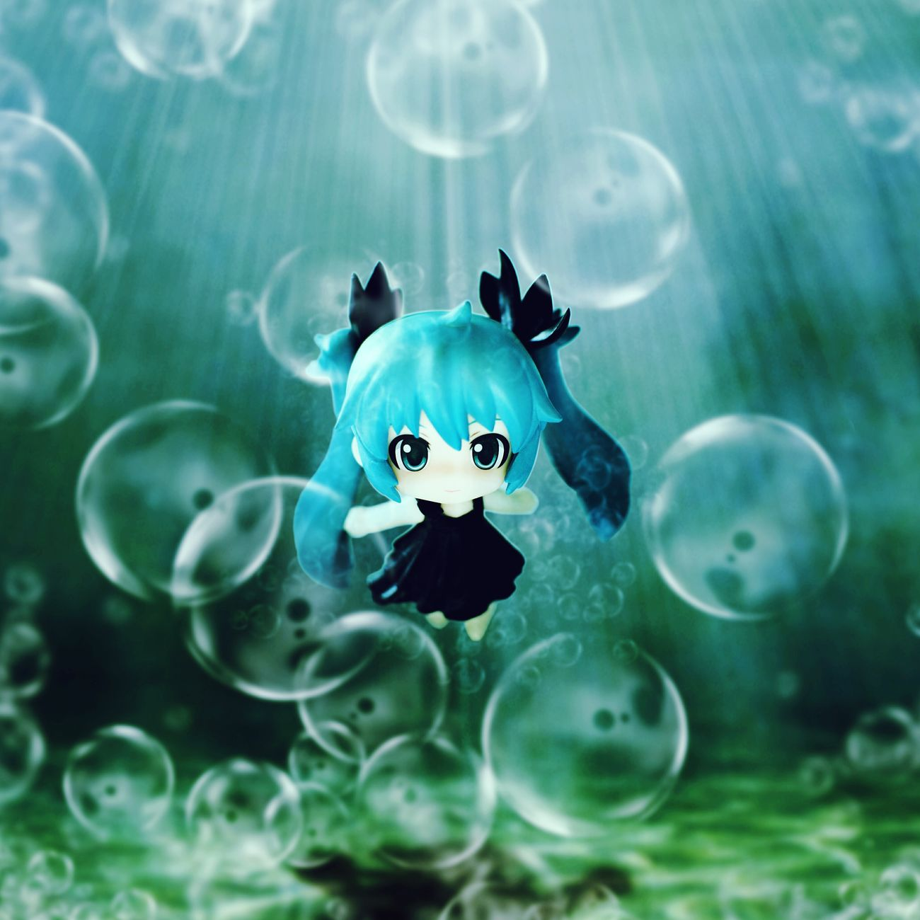 Deep Sea Miku Figurephotography Toyphotography Animefigure Nendophotography Goodsmilecompany Nendoroid Vocaloid Miku HATSUNEMIKU Deep Sea Miku