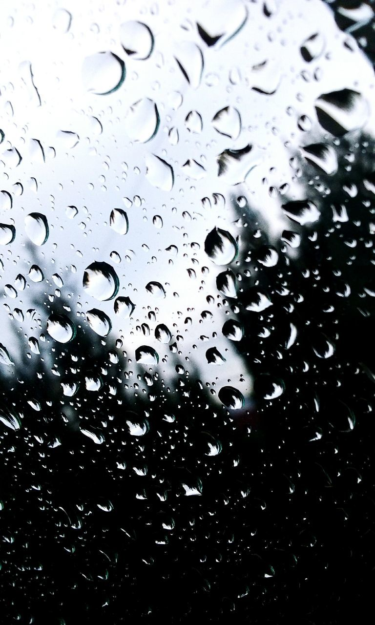 drop, water, wet, no people, raindrop, close-up, full frame, backgrounds, nature, window, day, freshness, indoors, beauty in nature, sky