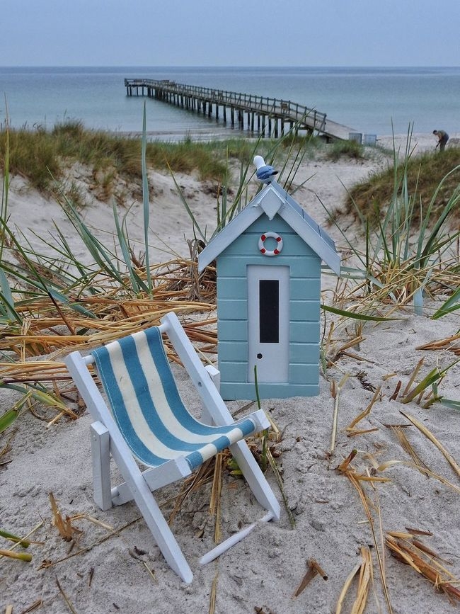 Check This Out Hello World Hanging Out Enjoying Life A Different View Beachhut Miniature Skåne Sweden Sea Jetty Horizon Over Water Sunchair Chilling Peaceful Freedom Minimalism