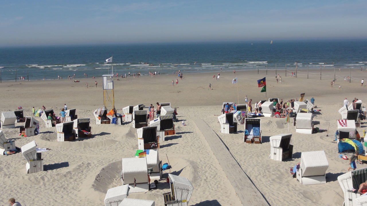A Day At The Beach Beach Coastline Germany Horizon Over Water Island Of Wangerooge Large Group Of People Leisure Activity Perspective Relaxation Sand Sea Shore Summer Tourist Traveling Vacation Vacations Water
