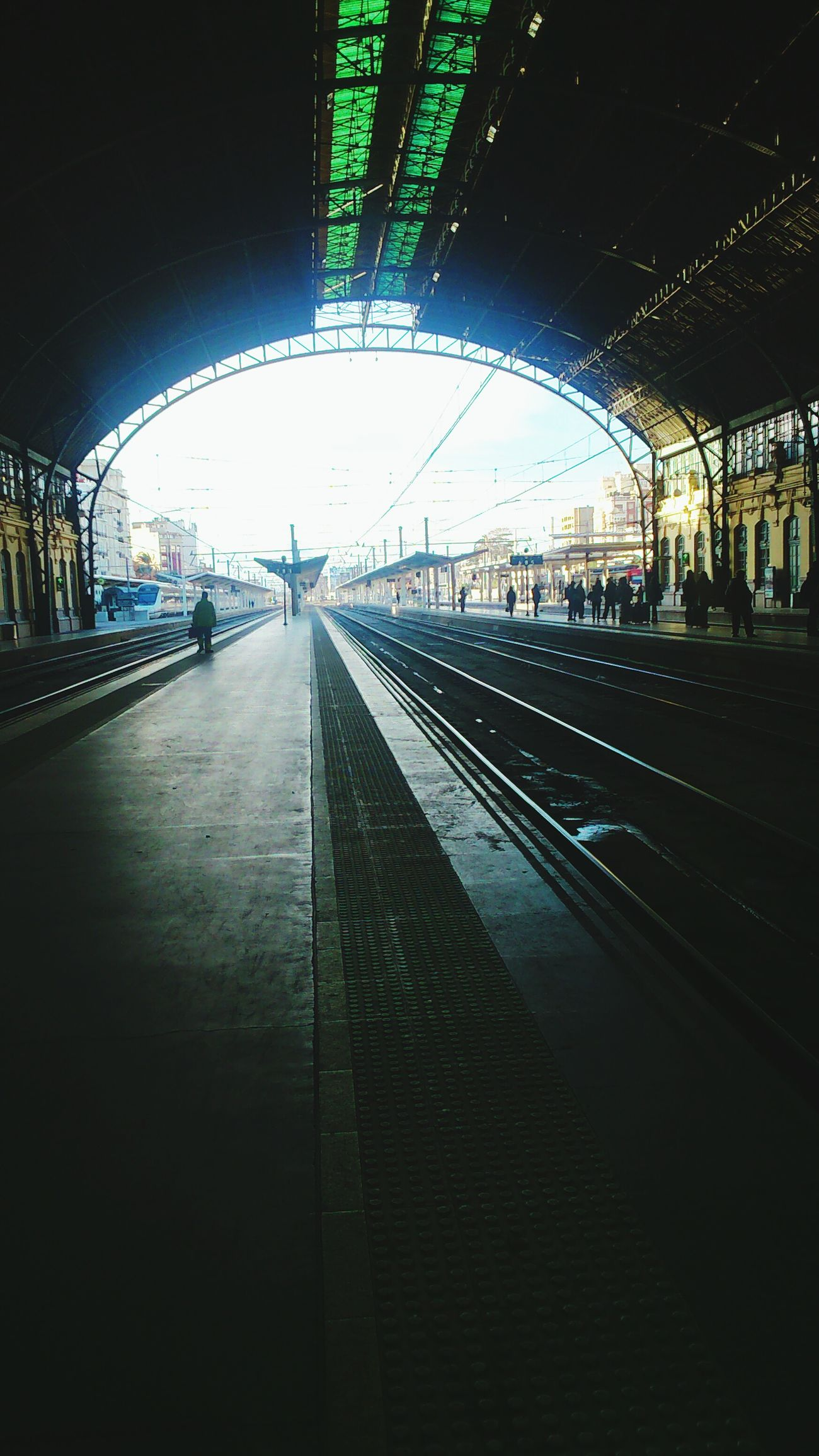 Waiting Train Morning