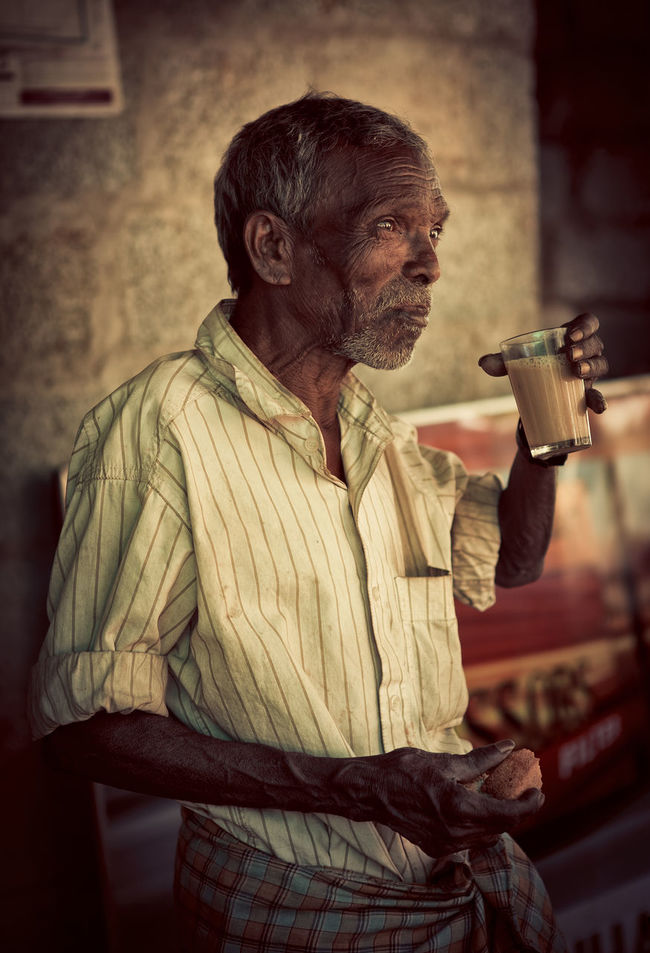 Culture Day Drinking Drinking Tea India Indian Man Mature Adult Old Man One Man Only One Person Portrait Real People Senior Adult Shade Shirt Tea Traditional Traditional Culture Travel Photography Traveling