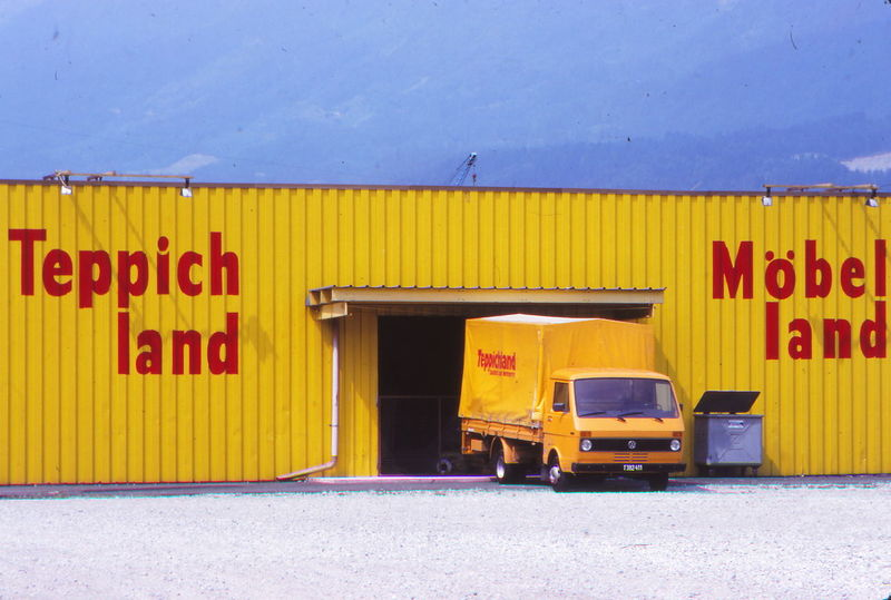 1977 Architecture Austria Built Structure Day Innsbruck Land Vehicle No People Outdoors Stationary Text Transportation Yellow